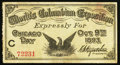 Miscellaneous:Other, World's Columbian Exposition Chicago Day Oct. 9, 1893 AdultTickets.. ...