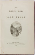 Books:Literature Pre-1900, Lord Byron. Poetical Works. Edinburgh: W.P. Nimmo, Hay &Mitchell, 1896. Small octavo. Full leather with gilt titles...