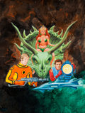 Original Comic Art:Covers, Gray Morrow Perry Rhodan #103 Paperback Book Cover PaintingOriginal Art (Ace, 1976)....