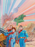Original Comic Art:Covers, Gray Morrow Perry Rhodan Crew Painting Original Art(c. 1970s)....