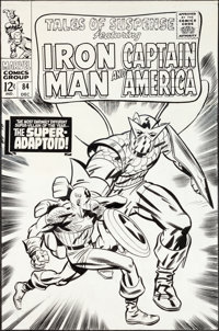 Jack Kirby and Frank Giacoia Tales of Suspense #84 Captain America Cover Original Art (Marvel, 1966).... (Total: 2 Items...