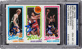 Basketball Cards:Singles (1980-Now), 1980 Topps Bird/Erving/Johnson PSA/DNA Gem MT 10 - Autographed by All Three! ...