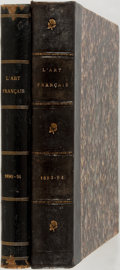 Books:Art & Architecture, Firmin Javel, editor. L'Art Francais. Paris, 1891, 1894. Two folio volumes. Half leather over marbled boards. Rubbin... (Total: 2 Items)