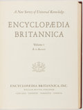 Books:Reference & Bibliography, Encyclopaedia Britannica. William Benton, [1961]. Twenty-four quarto volumes. Publisher's binding. Most corners bumped. ... (Total: 24 Items)