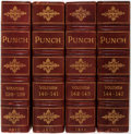 Books:Periodicals, Punch, volumes 138-145. London, 1910-13. Bound infour quarto volumes. Half maroon morocco over green boards...(Total: 4 Items)