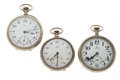Timepieces:Pocket (post 1900), A Lot Of Three Omega Pocket Watches. ... (Total: 3 Items)