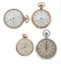 Timepieces:Pocket (post 1900), A Lot Of Three Pocket Watches & One Timer. ... (Total: 4 Items)