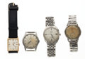 Timepieces:Wristwatch, A Lot Of Four Omega Wristwatches For Parts Or Repair. ... (Total: 4Items)