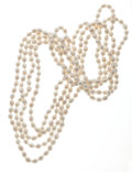 Estate Jewelry:Pearls, Cultured Pearl Necklace Lot. ... (Total: 2 Items)