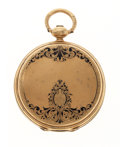 Timepieces:Pocket (pre 1900) , Albert Montandon Geneva 18k Gold Enamel Pocket Watch. ...