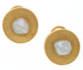 Estate Jewelry:Earrings, Freshwater Cultured Pearl, Gold Earrings . ...