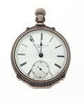 Timepieces:Pocket (pre 1900) , Rare Early Rockford Coin Silver Pocket Watch Serial Number 257. ...