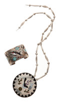 Estate Jewelry:Suites, Multi-Stone, Silver Jewelry Suite, Esther and Sammy Guardian, Zuni.... (Total: 2 Items)