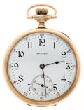 Timepieces:Pocket (post 1900), Howard 14k Gold 16 Size 17 Jewel Pocket Watch. ...