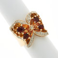 Estate Jewelry:Rings, Citrine, Diamond, Gold Butterfly Ring. ...