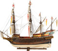 Paintings, LARGE SCALE MODEL OF A SPANISH GALLEON WITH CANNON. Overall length 96 inches (243.8 cm). A remarkable, seaworthy 1/2 in scal...