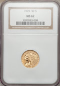 Indian Quarter Eagles: , 1929 $2 1/2 MS62 NGC. NGC Census: (7413/8680). PCGS Population(4150/5433). Mintage: 532,000. Numismedia Wsl. Price for pro...