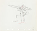 Animation Art:Production Drawing, The Woodland Café Grasshopper Production Drawing AnimationArt (Walt Disney, 1937)....