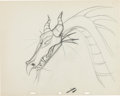 Animation Art:Production Drawing, Sleeping Beauty Dragon Production Drawing Animation Art(Walt Disney, 1959)....