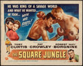 "Movie Posters:Sports, The Square Jungle (Universal International, 1955). Half Sheet (22"" X 28"") Style B. Sports.. ..."