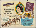 "Movie Posters:Documentary, A Queen is Crowned (Universal, 1953). Half Sheet (22"" X 28""). Documentary.. ..."