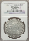 Early Dollars, 1798 $1 Large Eagle, Pointed 9, Close Date, B-29, BB-119, R.4 --Repaired -- NGC Details. Fine. PCGS Pop...