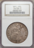 Seated Dollars: , 1842 $1 AU58 NGC. NGC Census: (77/73). PCGS Population (33/84).Mintage: 184,618. Numismedia Wsl. Price for problem free NG...