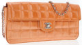 Luxury Accessories:Accessories, Chanel Orange Patent Leather East West Flap Bag. ...