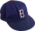 Baseball Collectibles:Hats, 1941-43 Johnny Allen Game Worn Brooklyn Dodgers Cap....
