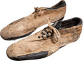 Football Collectibles:Others, Circa 1969 Joe Namath Game Worn, Signed Cleats - With Great Provenance!...