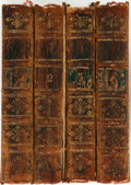 Books:Literature Pre-1900, Colley Cibber. The Dramatic Works. London: J. Clarke et al.,1760. Four twelvemo volumes. Contemporary calf with gil... (Total:4 Items)
