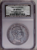 Coins of Hawaii: , 1883 $1 Hawaii Dollar --Improperly Cleaned--NCS. XF Details. NGCCensus: (28/162). PCGS Population (82/291).Mintage: 500,00...