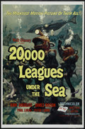 """Movie Posters:Science Fiction, 20,000 Leagues Under the Sea (Buena Vista, R-1963). One Sheet (27""""X 41""""). Adventure. Directed by Richard Fleischer. Starrin..."""