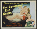 """Movie Posters:Drama, The Company She Keeps (RKO, 1951). Title Lobby Card (11"""" X 14""""). Romantic Drama. Directed by John Cromwell. Starring Lizabet..."""