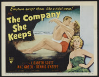 """The Company She Keeps (RKO, 1951). Title Lobby Card (11"""" X 14""""). Romantic Drama. Directed by John Cromwell. St..."""