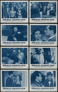 "Confidential Report (Warner Brothers, 1955). Lobby Card Set of 8 (11"" X 14""). Mystery. Directed by Orson Welle..."