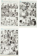 Original Comic Art:Panel Pages, Mike Docherty and Alfredo Alcala Savage Sword of Conan #184 Page Original Art Group (Marvel, 1991).... (Total: 3 Items)