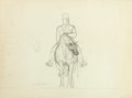 Fine Art - Work on Paper:Drawing, GARTH WILLIAMS (American, 1912-1996). Group of twenty ninesketches and clippings from Sculpture Projects portfolio.Pen... (Total: 29 Items)
