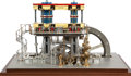 , LIVE STEAM EXHIBITION SCALE MODEL LEAVITT PUMPING ENGINE. 16 x 27 x15 inches (40.6 x 68.6 x 38.1 cm). Very finely built and...