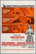 "Movie Posters:Western, 100 Rifles (20th Century Fox, 1969). One Sheets (2) (27"" X 41"") Styles A & B, Lobby Cards (7) (11"" X 14""), & Pressbook (Mult... (Total: 10 Items)"