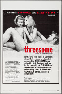 "Threesome & Other Lot (Howard Mahler Films, 1970). One Sheets (2) (27"" X 41""). Sexploitation. ... (Total:..."