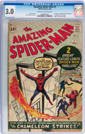 Silver Age (1956-1969):Superhero, The Amazing Spider-Man #1 (Marvel, 1963) CGC GD/VG 3.0 Cream to off-white pages....