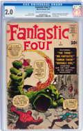 Silver Age (1956-1969):Superhero, Fantastic Four #1 (Marvel, 1961) CGC GD 2.0 Cream to off-white pages....