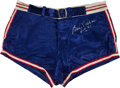 Basketball Collectibles:Uniforms, Circa 1954 George Mikan Game Worn Western Conference All-StarShorts....