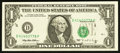 Error Notes:Shifted Third Printing, Fr. 1921-D $1 1995 Federal Reserve Note. Choice About Uncirculated.. ...