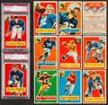 Football Cards:Sets, 1956 Topps Football Partial Set (84/120) Plus CL and Contest Card - Original Owner Collection! ...