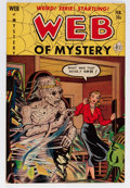 Golden Age (1938-1955):Horror, Web of Mystery #7 (Ace, 1952) Condition: VF-....