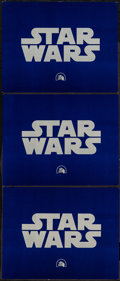 """Movie Posters:Science Fiction, Star Wars (20th Century Fox, 1977). Title Lobby Cards (3) (11"""" X14""""). Science Fiction.. ... (Total: 3 Items)"""