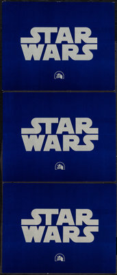 """Star Wars (20th Century Fox, 1977). Title Lobby Cards (3) (11"""" X 14""""). Science Fiction. ... (Total: 3 Items)"""