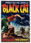 Golden Age (1938-1955):Horror, Black Cat Mystery #48 (Harvey, 1954) Condition: VF....